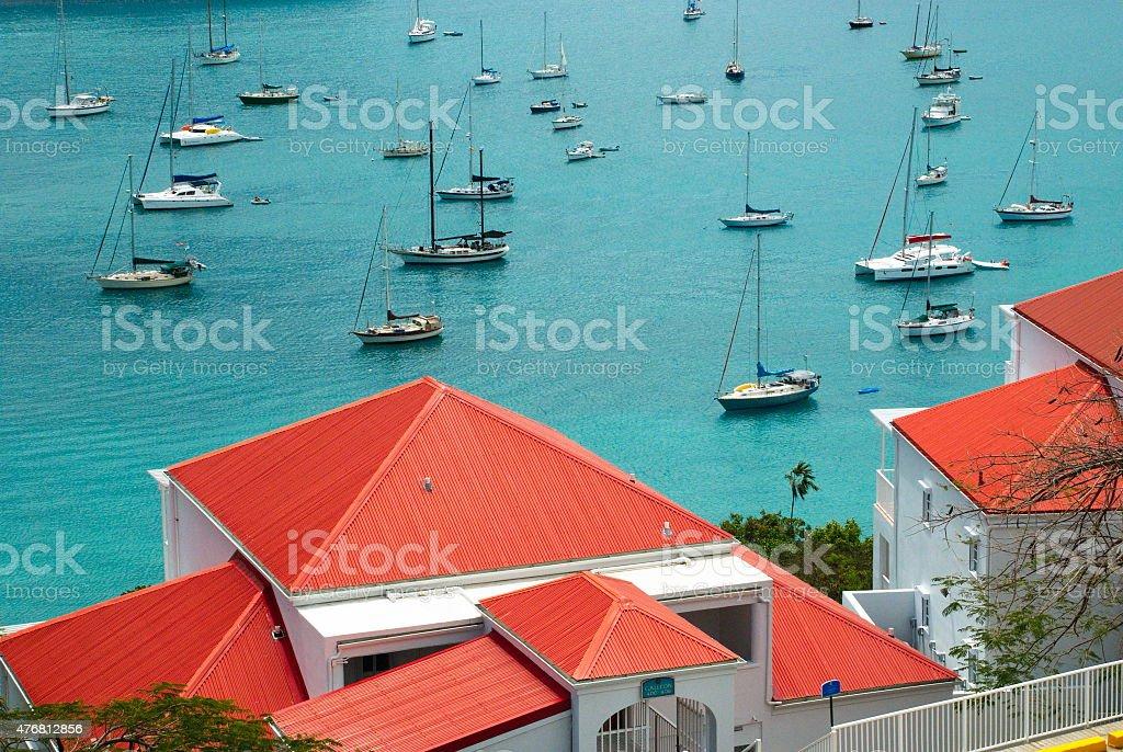 Colorful St. Croix, US Virgin Islands stock photo