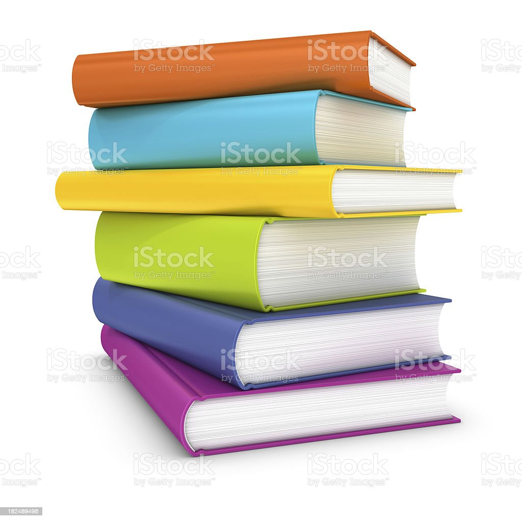 colorful stack of books royalty-free stock photo