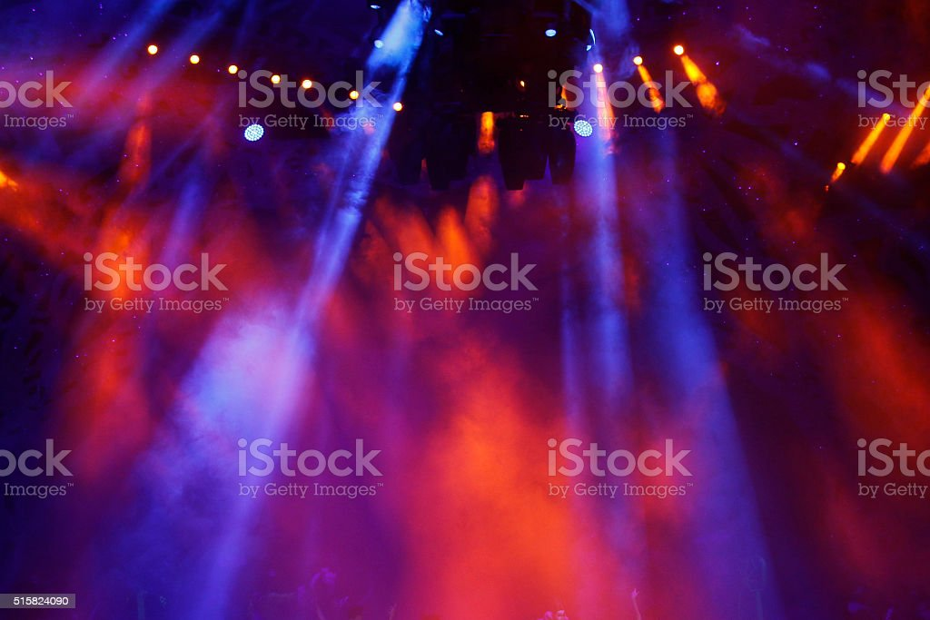 Colorful stage light stock photo
