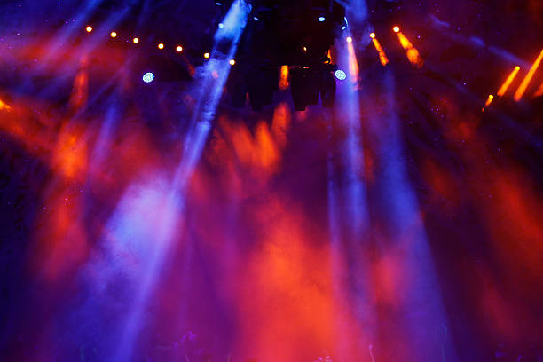 colorful stage light - stage light stock pictures, royalty-free photos & images