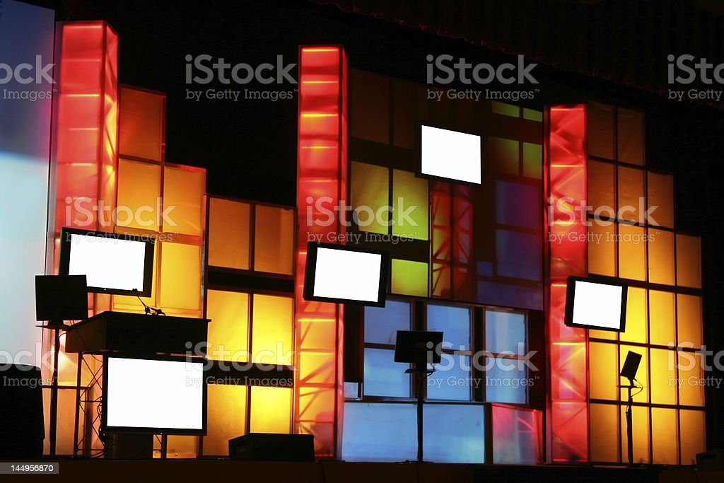 Colorful Stage Production royalty-free stock photo