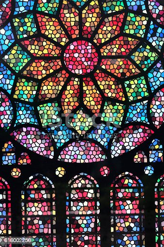 Stained glass colorful abstract pattern background