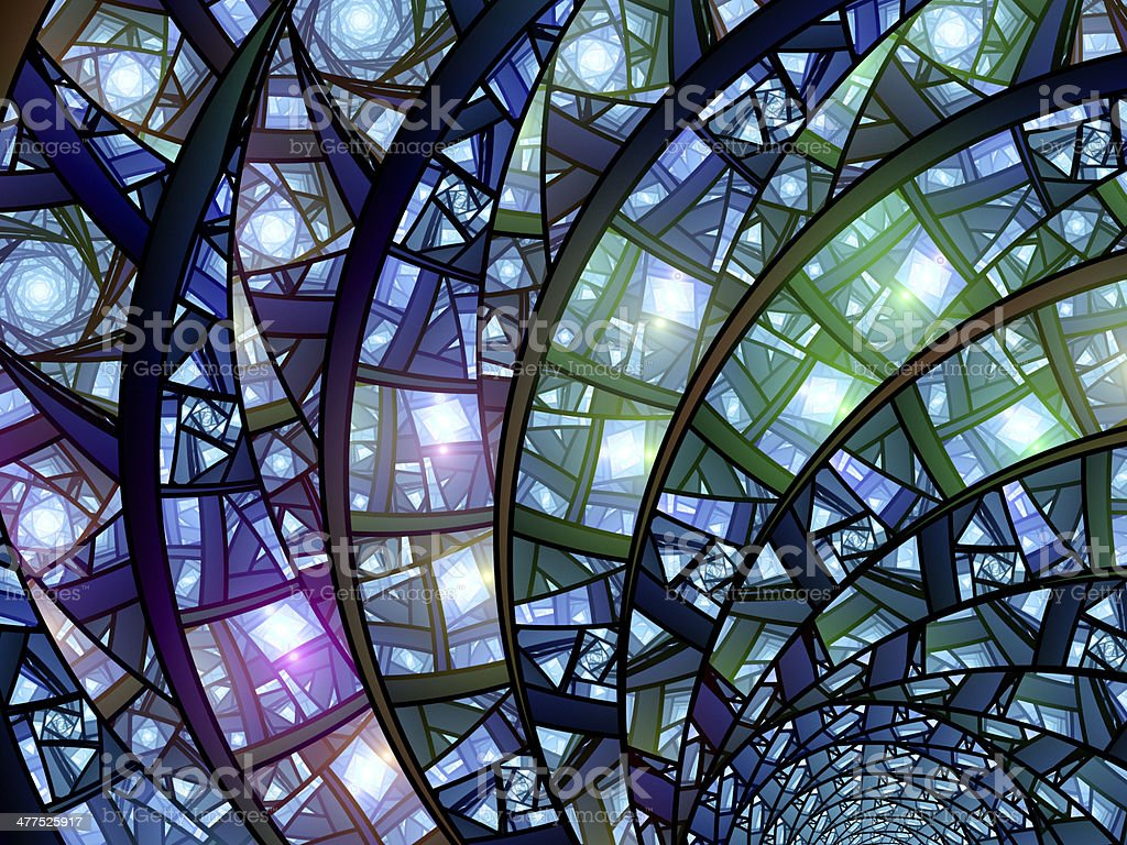 Colorful stained-glass royalty-free stock photo
