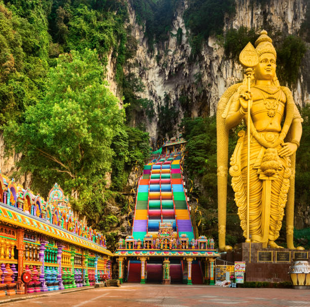 Colorful stairs of Batu caves. Malaysia Beautiful view of colorful stairs of Batu caves. Malaysia kuala lumpur batu caves stock pictures, royalty-free photos & images