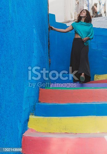 istock Colorful Stairs 1202143559
