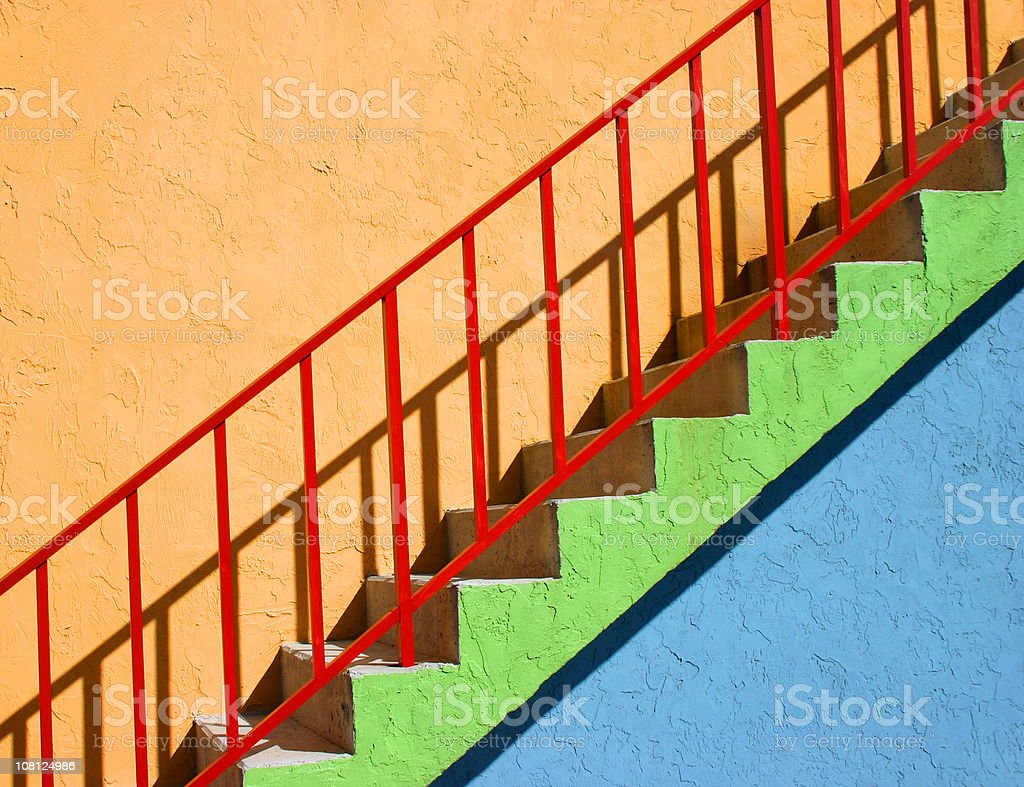Colorful Stairway Outside royalty-free stock photo