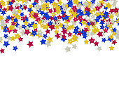 istock Colorful star shape sequins background 804702238