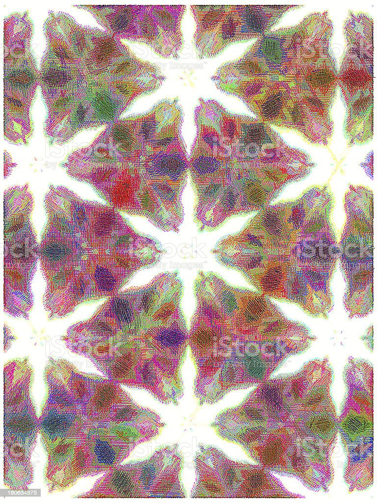 colorful stars caleidoscope royalty-free stock photo