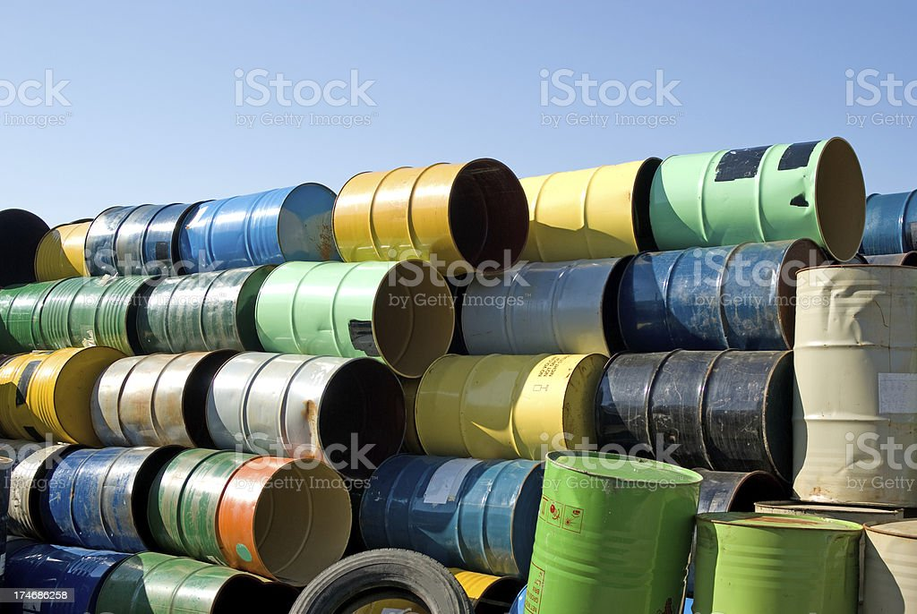 Colorful Steel Containers royalty-free stock photo