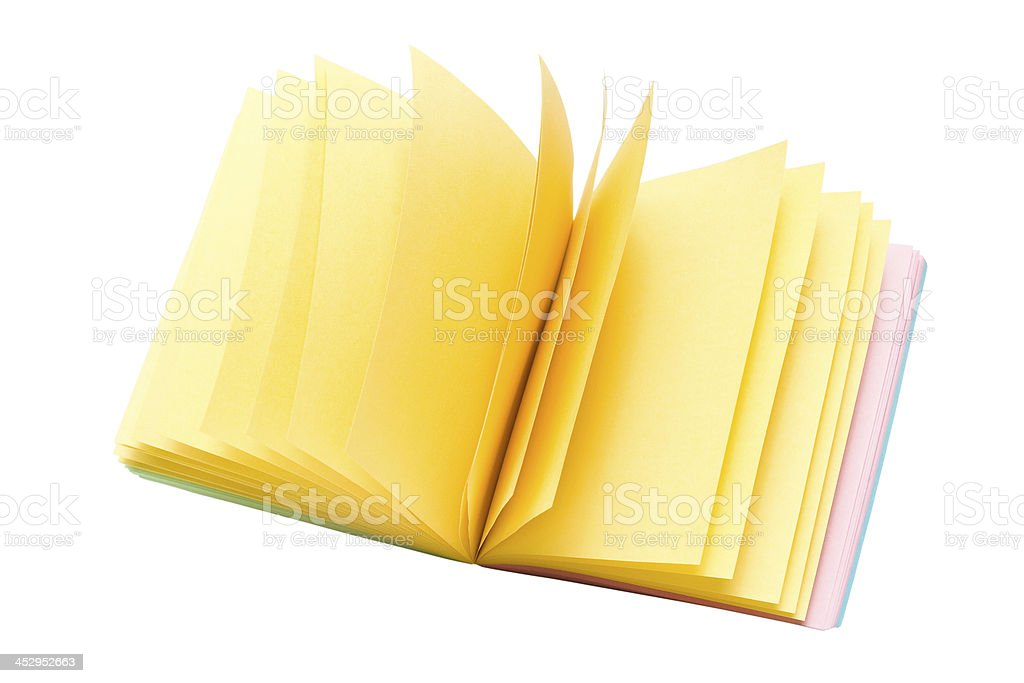 colorful sticker note paper stock photo