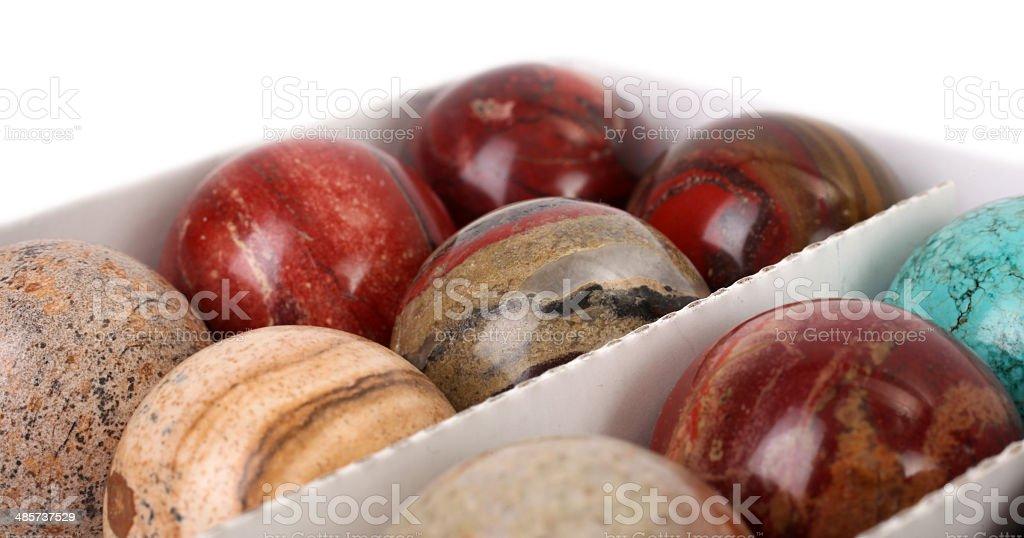 Colorful stone balls gemstones royalty-free stock photo