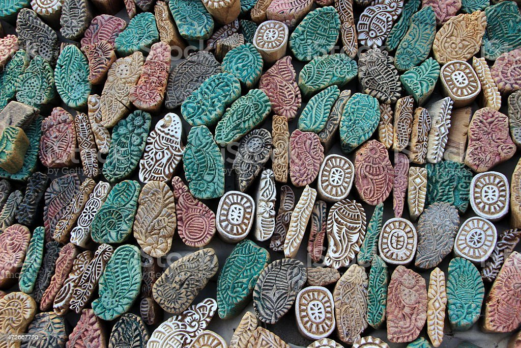 Colorful Stone Mold Pieces stock photo