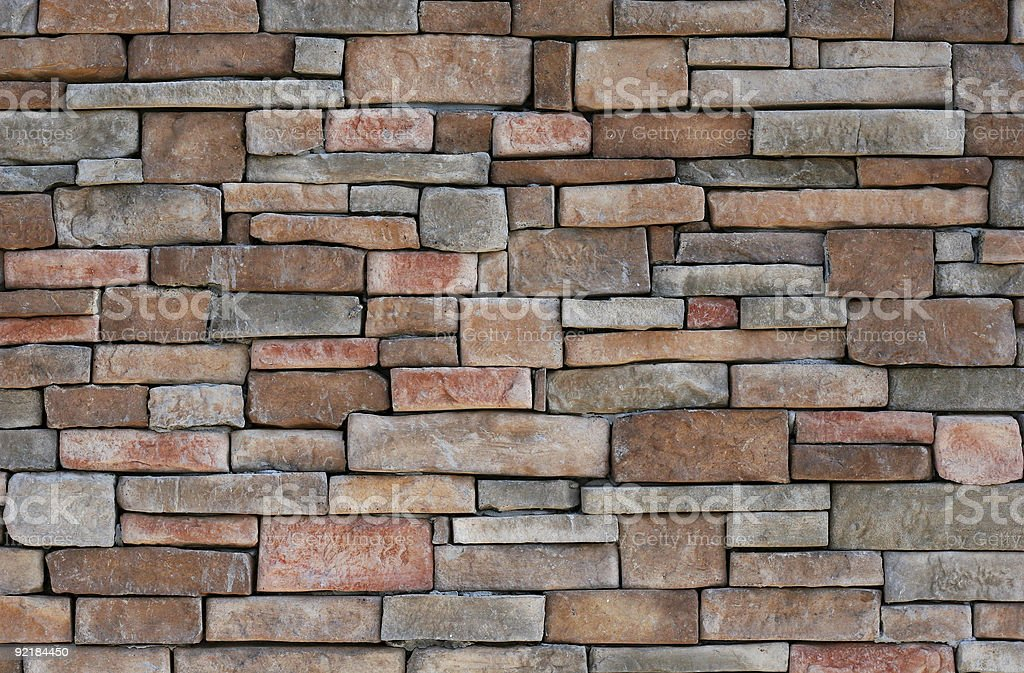 Colorful Stone Wall royalty-free stock photo