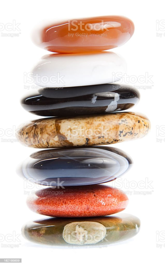 colorful stones collection royalty-free stock photo