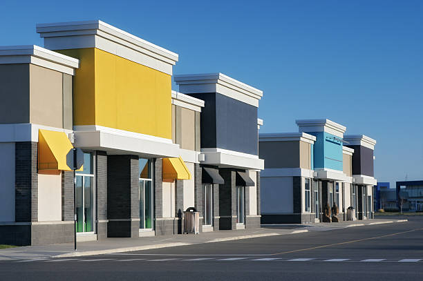 Colorful Store Building Exteriors stock photo