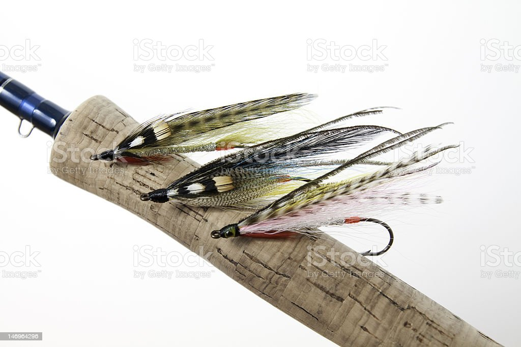 Colorful streamer flies stock photo