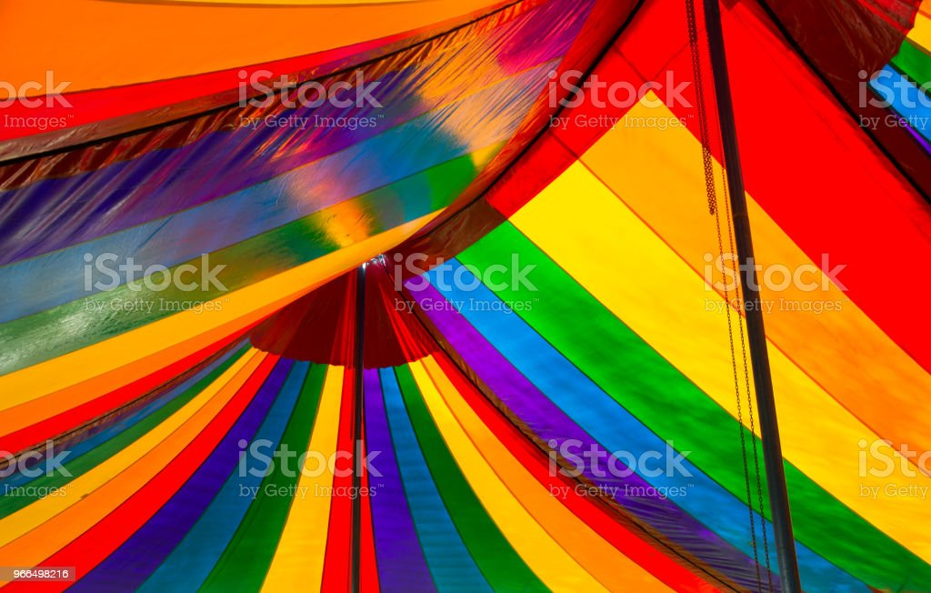 Colorful Striped Big Top Circus Tent stock photo