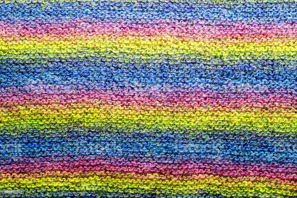 colorful stripes knitted wool background texture close-up. royalty-free stock photo