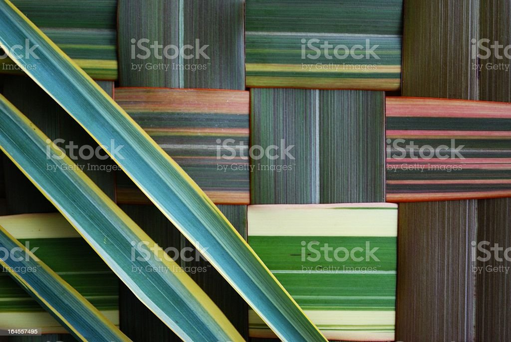 Colorful stripes make up a harakeke background stock photo