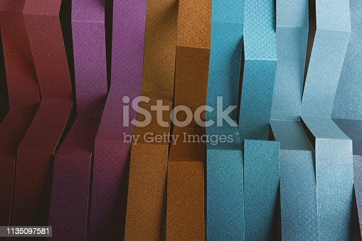 532107582 istock photo Colorful stripes with vivid color, abstract composition 1135097581