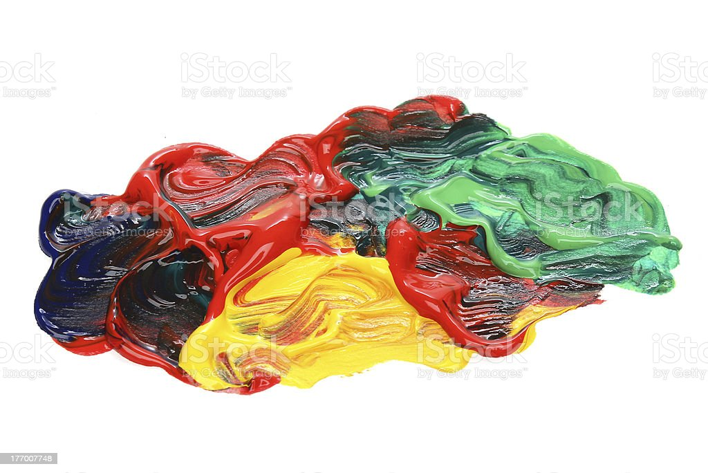 Colorful strokes over white background royalty-free stock photo