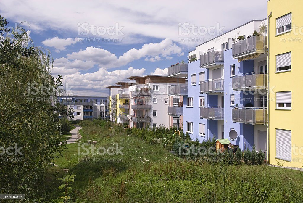 Colorful suburb Houses stock photo