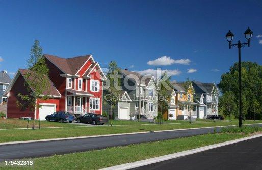 istock Colorful Suburban Homes 175432318