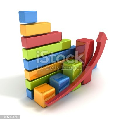 511722788istockphoto colorful success business bar graph with growing up arrow 184780244