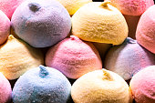istock Colorful sugar candy marshmallow background. Dessert food concept. 1208023872