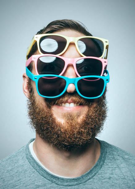 Colorful Sunglasses Portrait - foto stock
