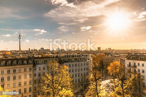 istock colorful sunny Berlin cityscape seen from tower of the zionskirche 620383954