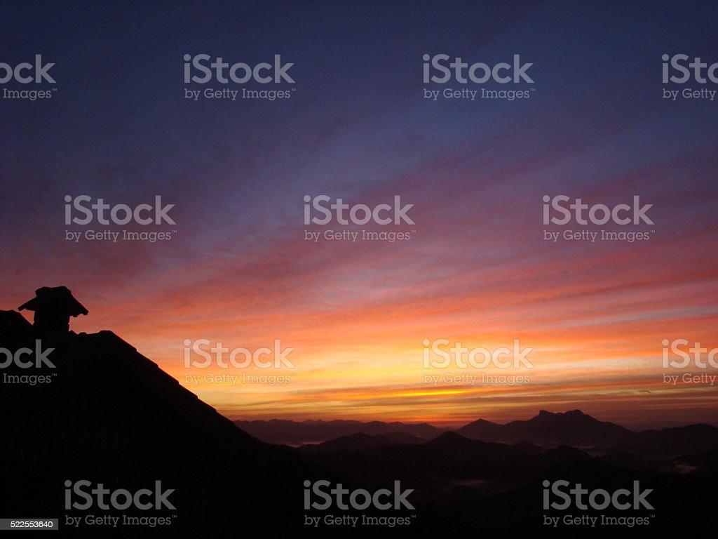 Colorful Sunrise in Visconde de Mauá stock photo