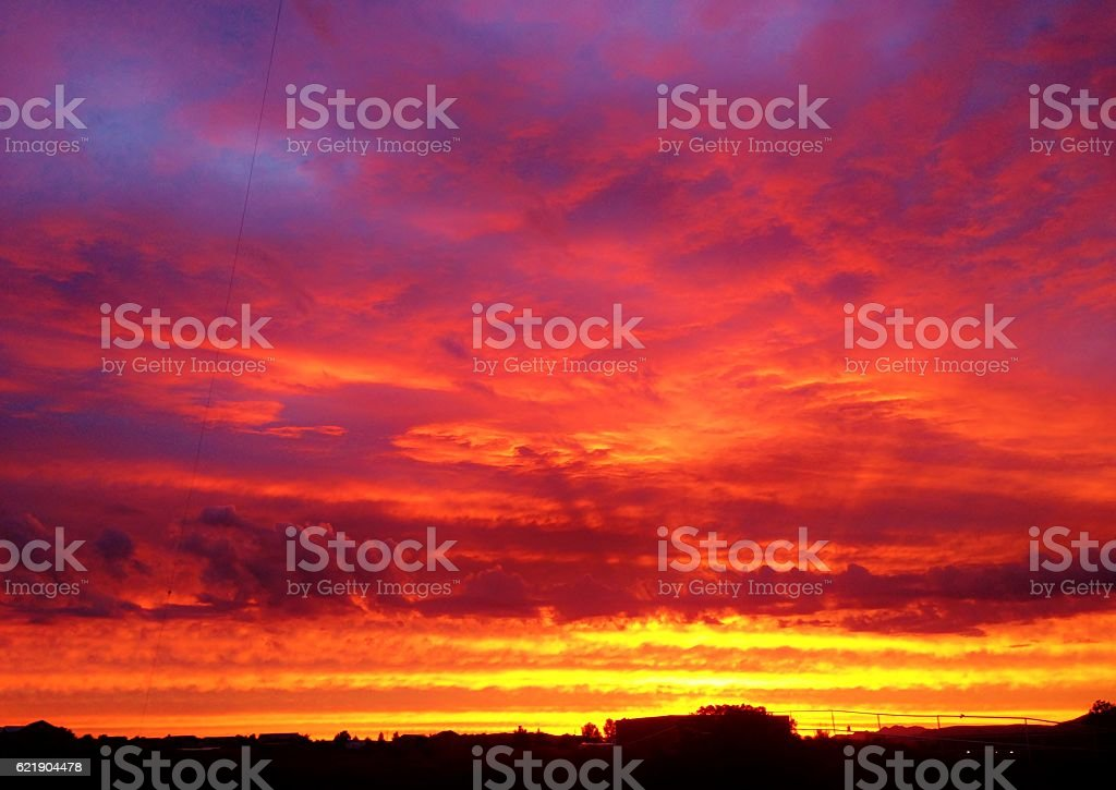 Colorful Sunrise stock photo
