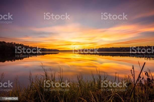 Photo of Colorful Sunset At Davis Lake