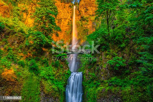 This is a collection of photos that i took at Multnomah Falls at Sunset in Portland, Oregon