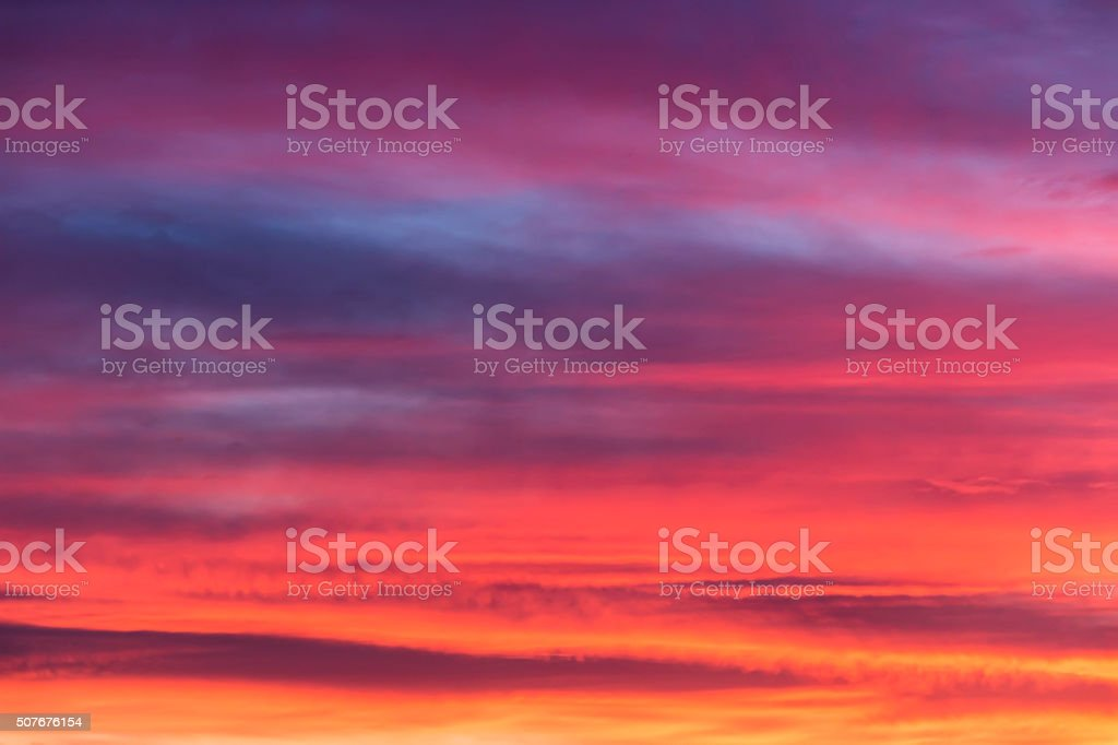 Colorful sunset background stock photo