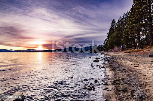 511675552istockphoto Colorful sunset on the north shore of Lake Tahoe, California 1089840020