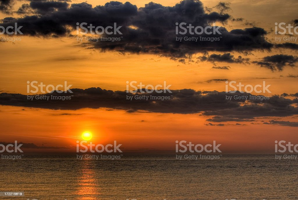 Colorful Sunset royalty-free stock photo