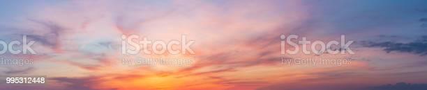 Photo of Colorful sunset twilight sky