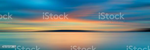 Photo of Colorful sunset with long exposure effect, motion blurred