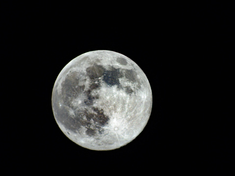 Colorful super moon with clear sky in the background