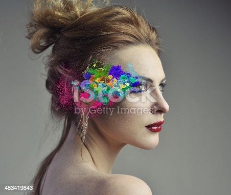 istock Colorful sureal make up 483419843