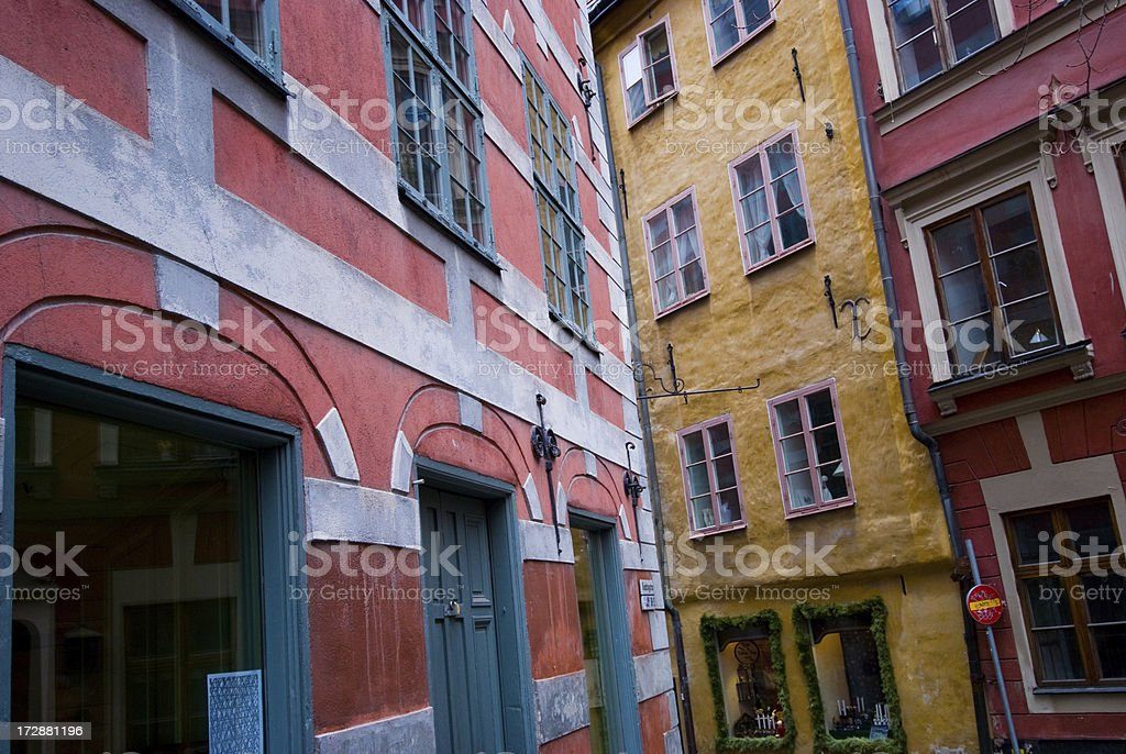 Colorful Swedish Buildings royalty-free stock photo