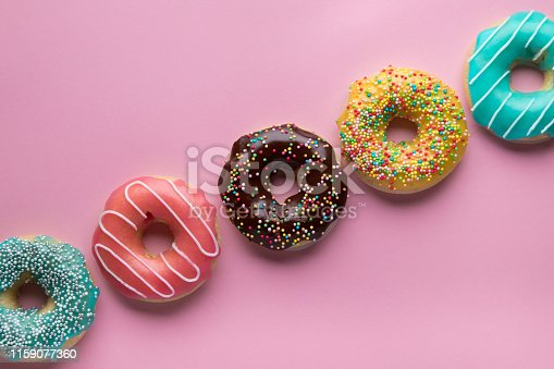 istock Colorful sweet background with copy space. 1159077360