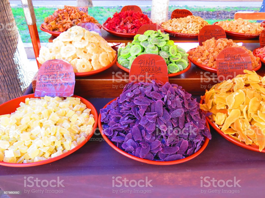 Colorful sweet snacks stock photo