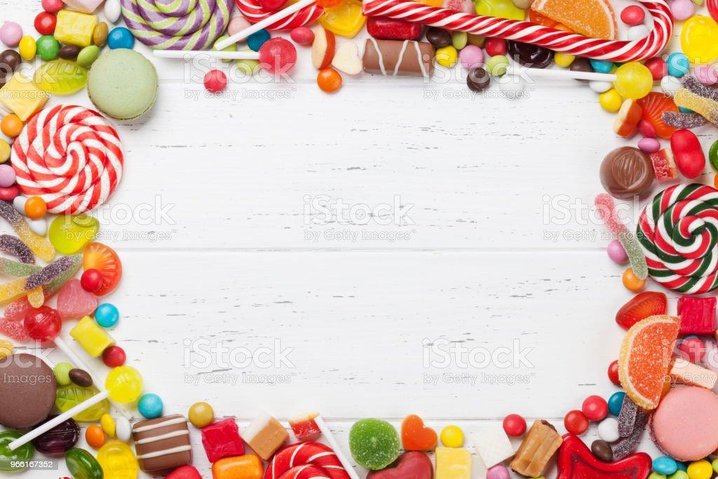 Colorful sweets. Lollipops and candies - Royalty-free Açúcar Foto de stock