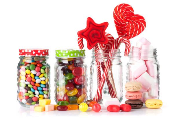bunten süßigkeiten - lutscher cookies stock-fotos und bilder