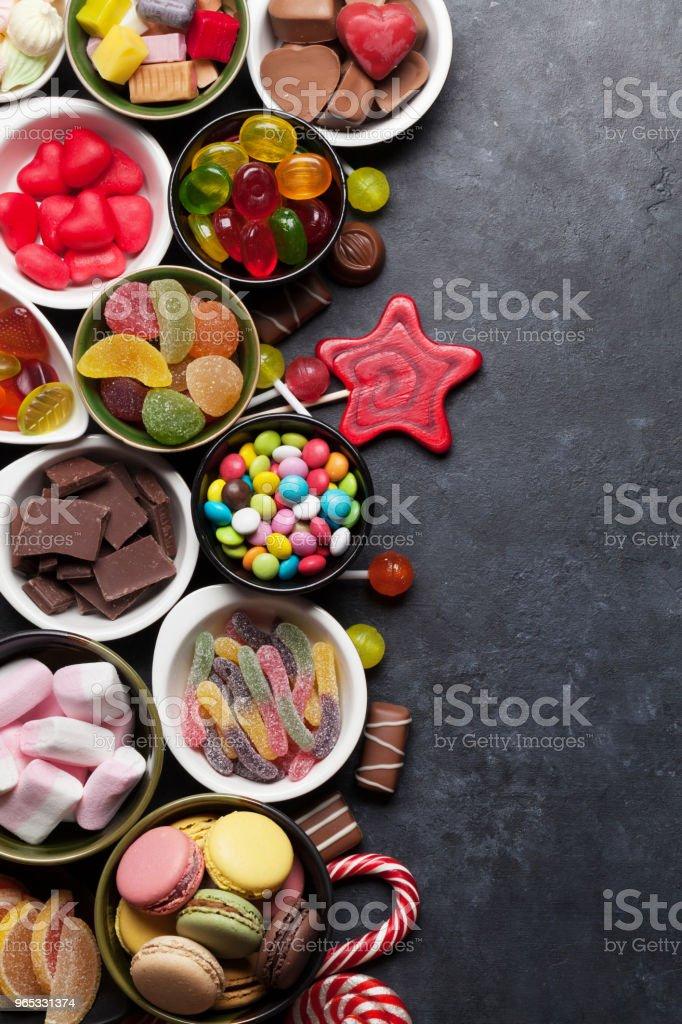 Colorful sweets zbiór zdjęć royalty-free