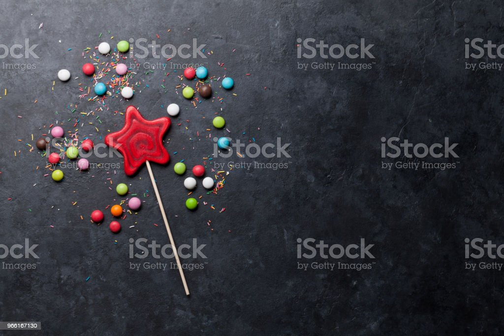 Colorful sweets - Royalty-free Black Color Stock Photo