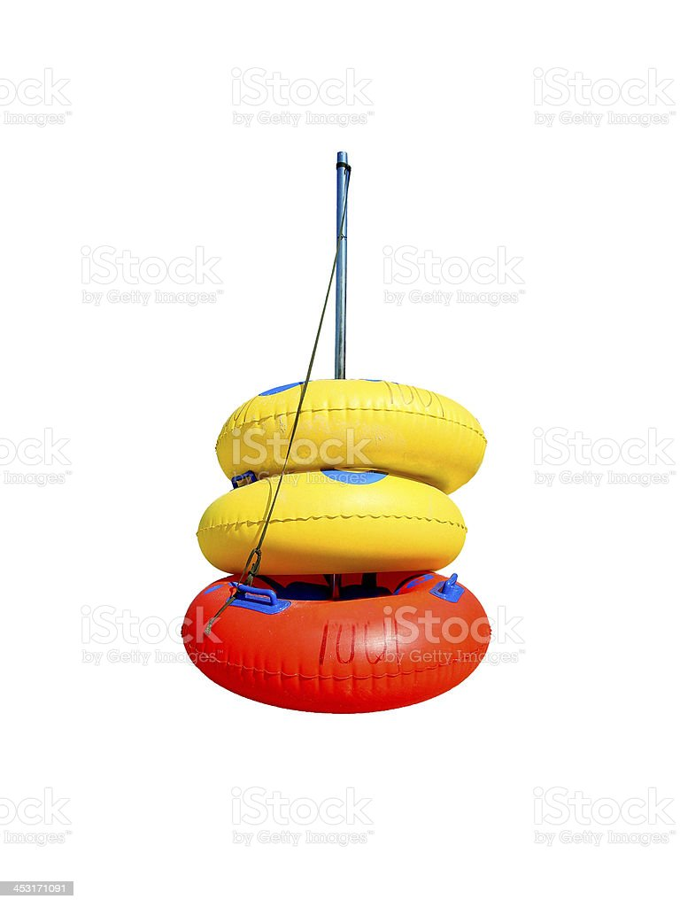 Colorful swim tube royalty-free stock photo